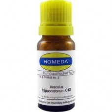 HOMEDA Aesculus hippocastanum C 12 Globuli 10 g