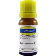 HOMEDA Sulfur sublimatum C 12 Globuli 10 g