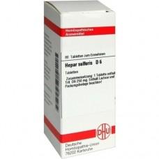 HEPAR SULFURIS D 6 Tabletten 80 St