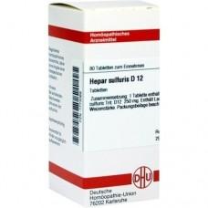 HEPAR SULFURIS D 12 Tabletten 80 St