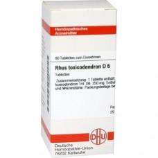 RHUS TOXICODENDRON D 6 Tabletten 80 St