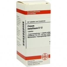 ZINCUM METALLICUM D 12 Tabletten 80 St