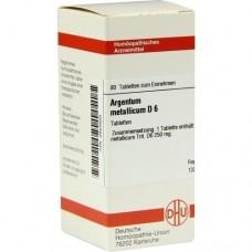 ARGENTUM METALLICUM D 6 Tabletten 80 St