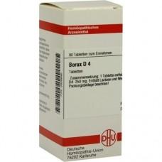 BORAX D 4 Tabletten 80 St