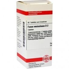 FUCUS VESICULOSUS D 2 Tabletten 80 St