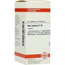 NUX VOMICA D 10 Tabletten 80 St
