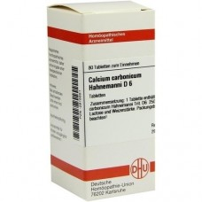 CALCIUM CARBONICUM Hahnemanni D 6 Tabletten 80 St