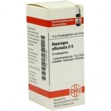 ASPARAGUS OFFICINALIS D 6 Globuli 10 g