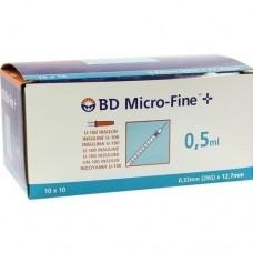 BD MICRO-FINE+ Insulinspr.0,5 ml U100 12,7 mm 100X0.5 ml