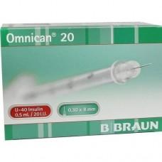 OMNICAN Insulinspr.0,5 ml U40 m.Kan.0,30x8 mm 100 St