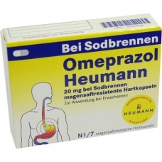 OMEPRAZOL Heumann 20 mg b.Sodbr.magensaftr.Hartk. 7 St