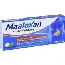 MAALOXAN 25 mVal Kautabletten 20 St