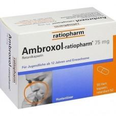 AMBROXOL ratiopharm 75 mg Hustenlöser Retardkaps. 50 St