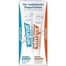 ARONAL/ELMEX Doppelschutz Zahnpasta 2X75 ml