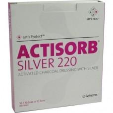 ACTISORB 220 Silver 10,5x10,5 cm steril Kompressen 10 St