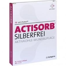 ACTISORB SILBERFREI 6,5x9,5 cm Kompressen 10 St