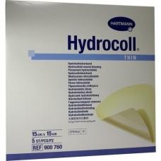 HYDROCOLL thin Wundverband 15x15 cm 5 St
